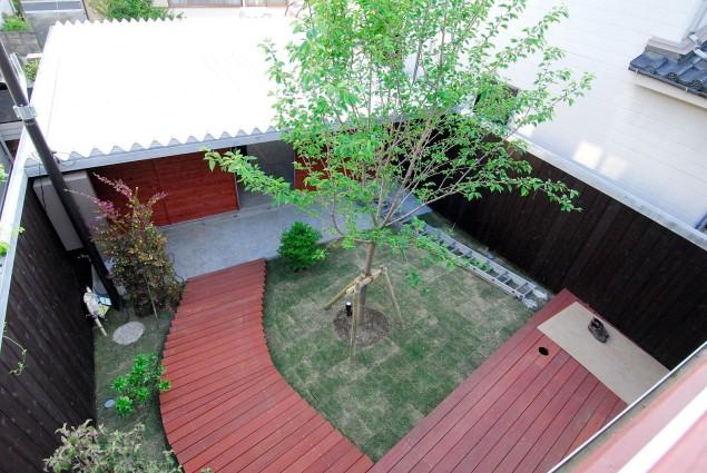 2階から見た庭